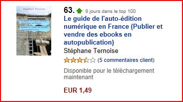 dans le Top 100 des ventes Amazon Kindle