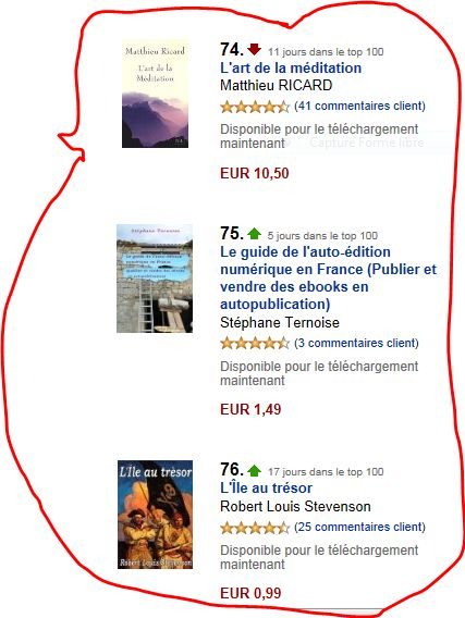 photo <h1><FONT face=Verdana,Arial,Helvetica size=3 COLOR=#ff0000>le top 100 de la boutique Amazon Kindle</h1>