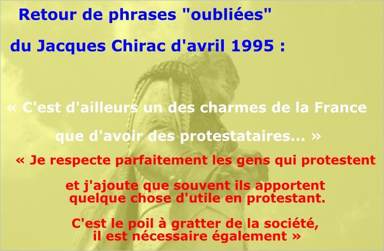photo Jacques Chirac et les gilets jaunes
