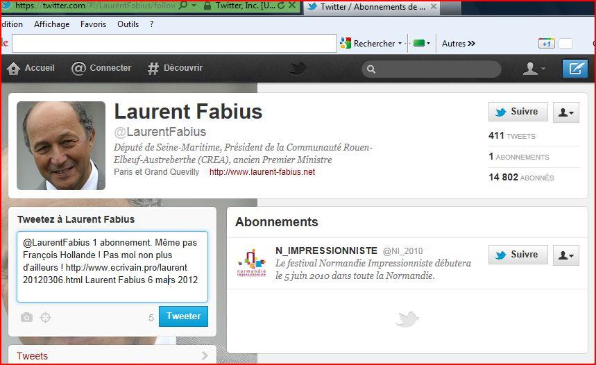 Laurent Fabius twitter