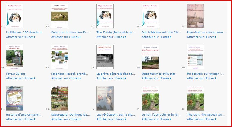photo 3eme page catalogue Stéphane Ternoise sur Itunes