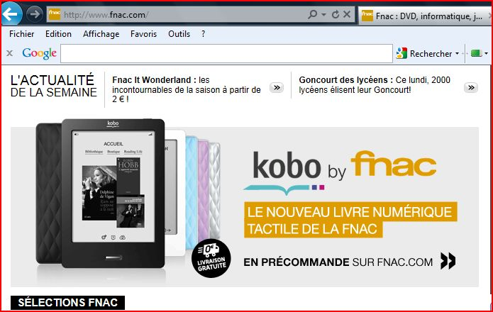 photo kobo par fnac le 7 novembre 2011