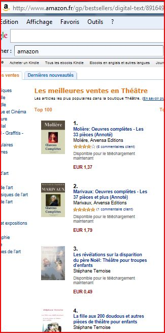 photo vente ebooks théâtre