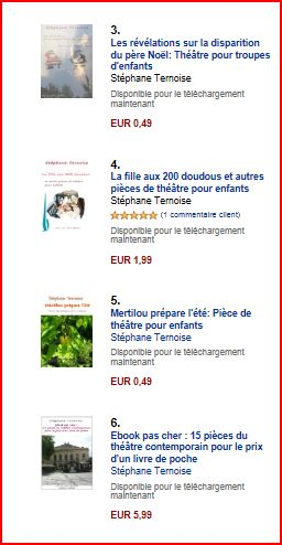 photo suite classement amazon vente ebooks théâtre