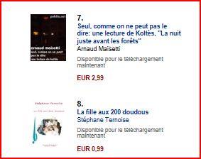 classement amazon vente ebooks théâtre