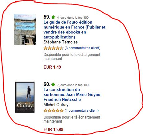 photo dans le top 1400 amazon kindle